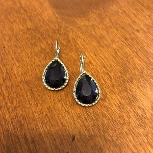 Plum teardrop earrings